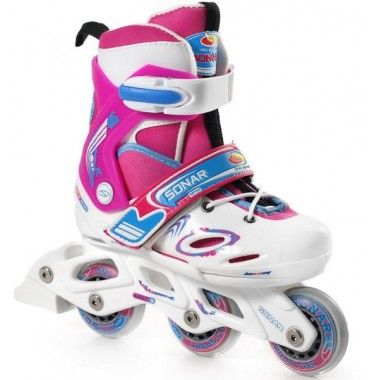 Ролики детские раздвижные SMJ Sport CRK8B Pink