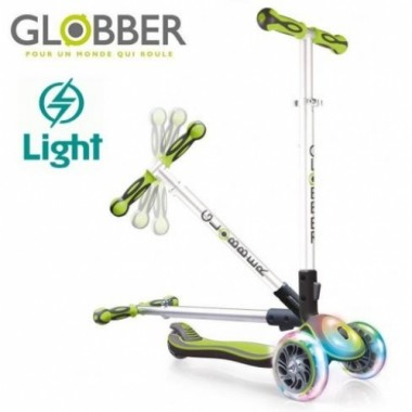 Самокат Globber My Free Fold Up Lights 449 Lime Green