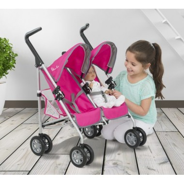 Кукольная коляска для двух кукол Silver Cross Pop Duo Twin Dolls' Stroller Pram HTI