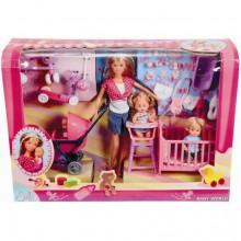 Кукольный набор Штеффи с детьми и аксессуарами Simba