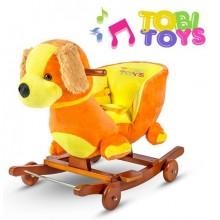 Качалка-каталка музыкальная Щенок Tobi Toys