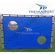 Футбольные ворота Yakimasport с экраном 215 x 150 см
